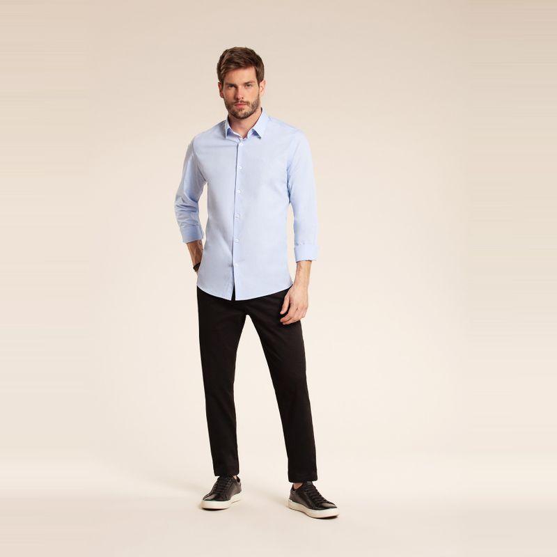 Camisa manga longa classic Azul Claro 85101062-38_1