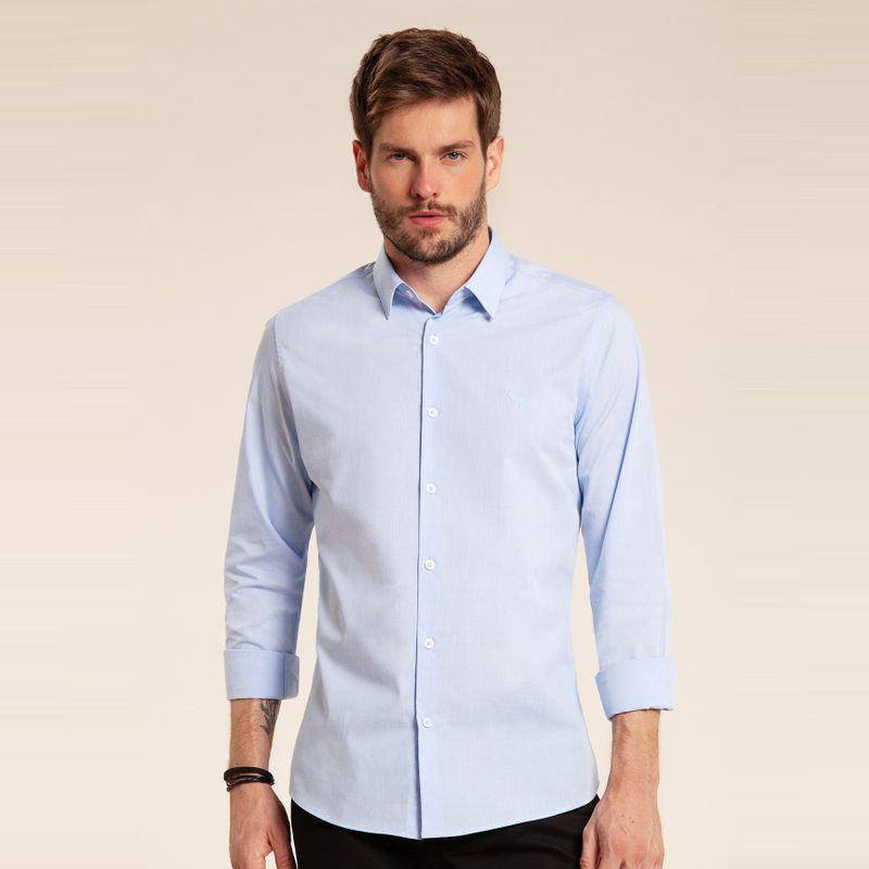 Camisa manga longa classic Azul Claro 85101062-38_2