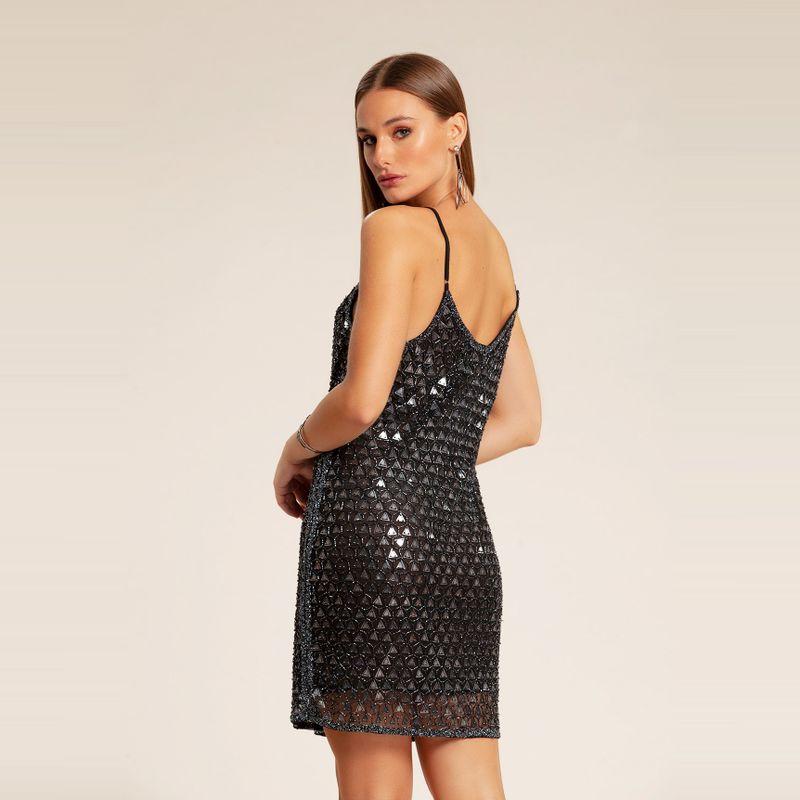 Vestido bordado paetê triangular 83212103-382_3