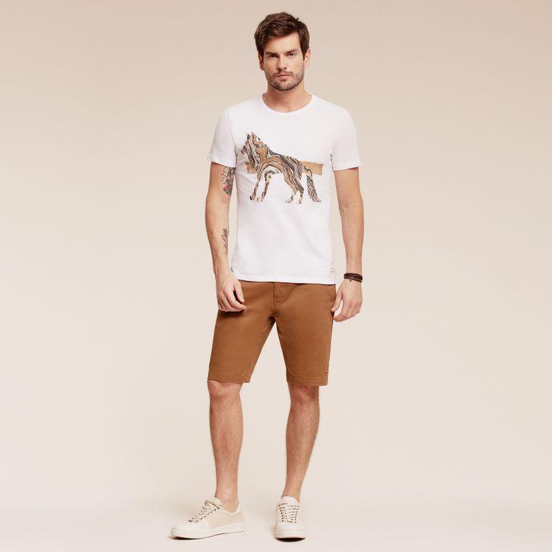 Camiseta manga curta estampa Lobo 87102028-1_2