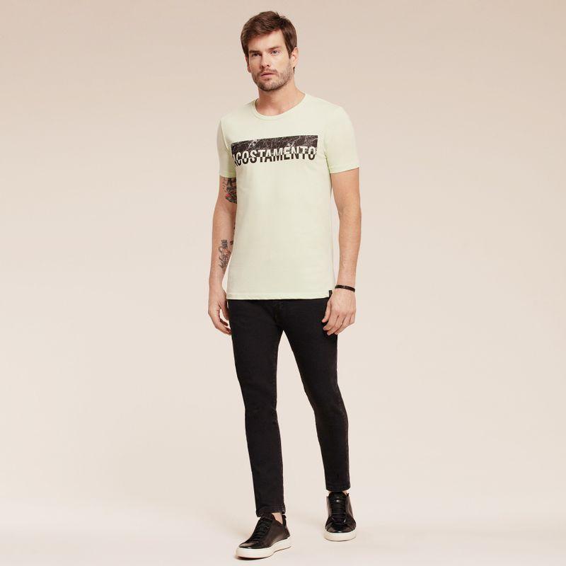 Camiseta manga curta estampa Lettering 87102060-1459_2