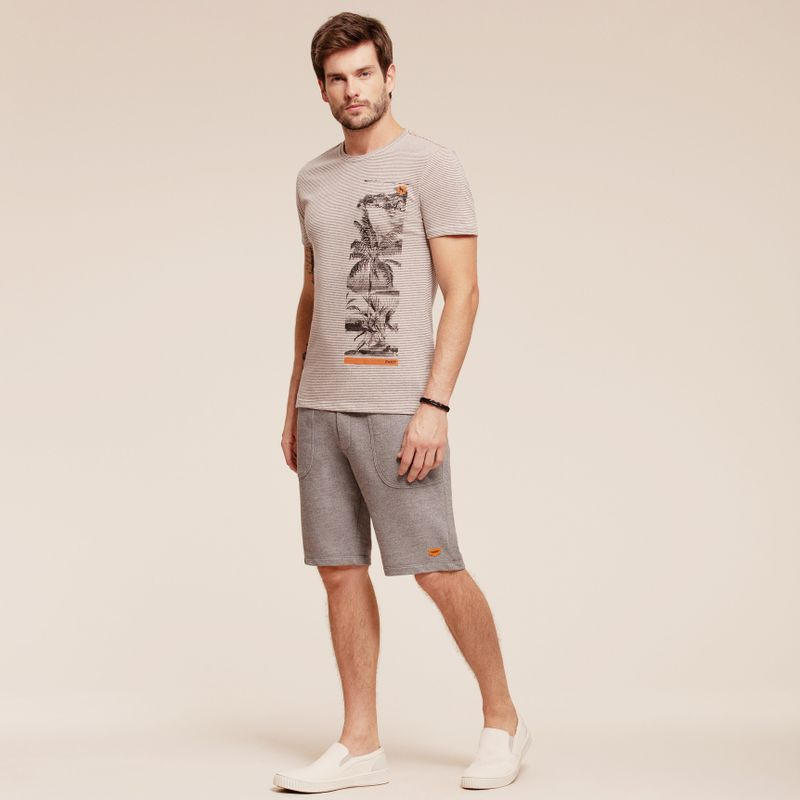 Camiseta Listrada React manga curta estampada 87102096-1_1