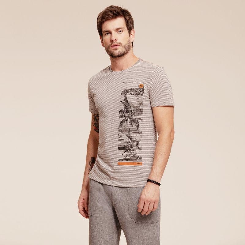 Camiseta Listrada React manga curta estampada 87102096-1_2