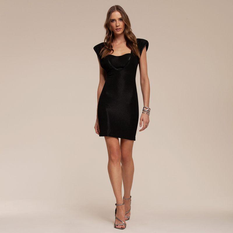 Vestido Black Canelado com Ombreira 87212067-21_2