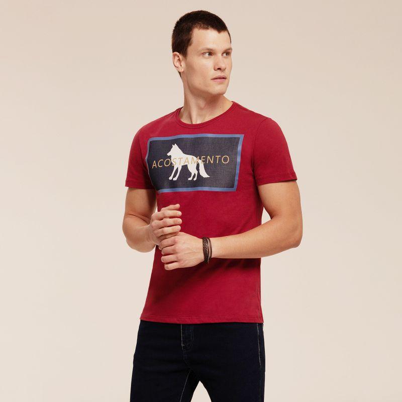 Camiseta manga curta estampa Lobo 87102059-1651_2