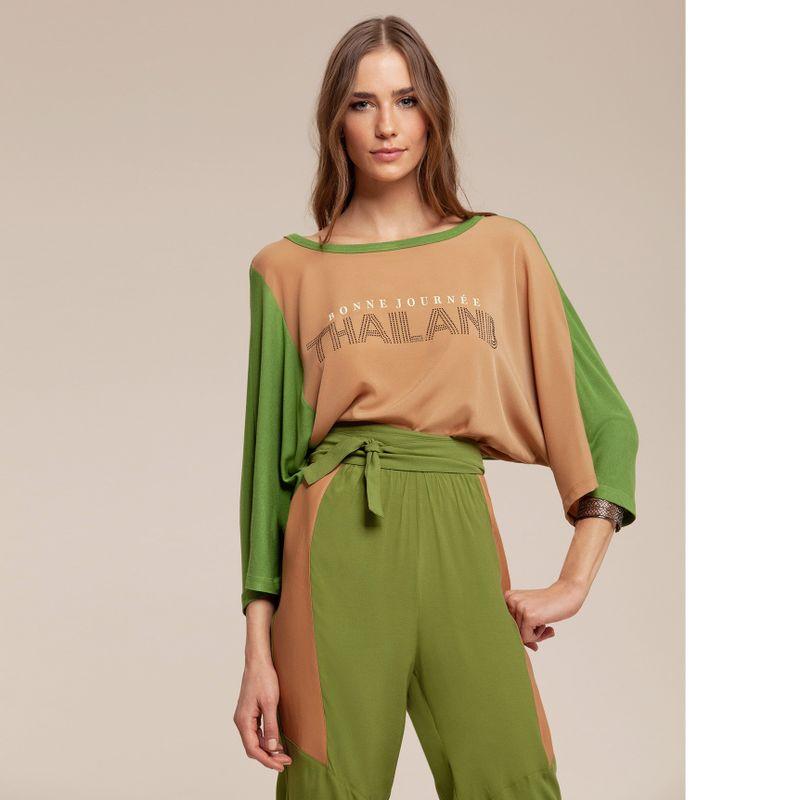 T-shirt bicolor Thailand com aplicações 87202006-1666_2