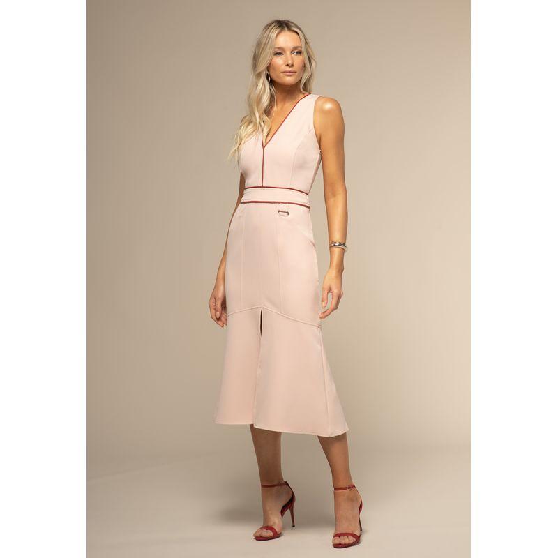 Vestido Midi Detalhes Couro Fake 88212019--1775_1