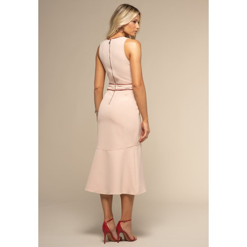 Vestido Midi Detalhes Couro Fake 88212019--1775_3