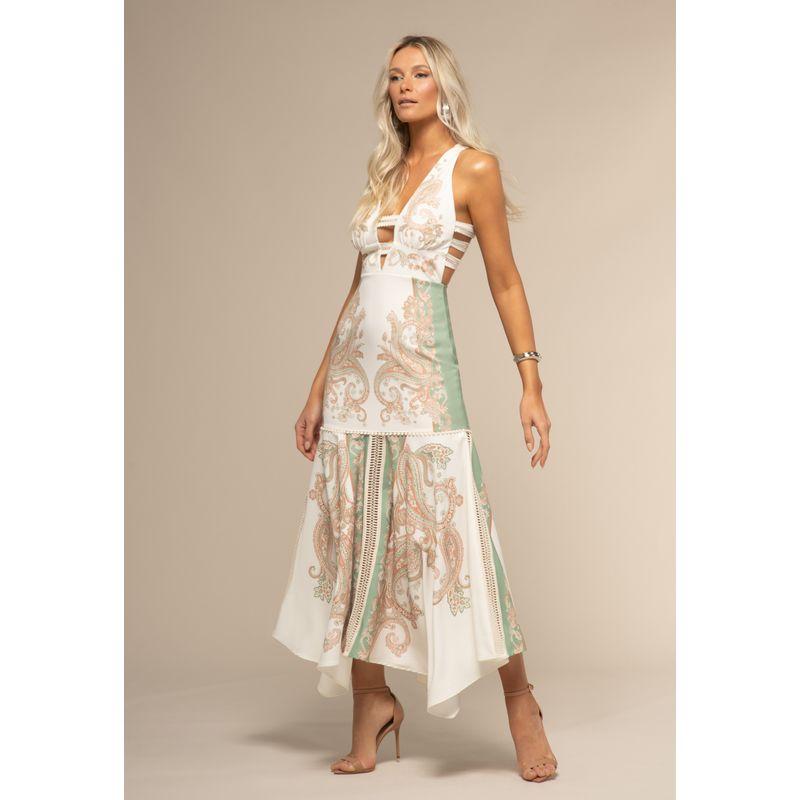 Vestido Barra Assimétrica Estampa Paisley Floral Aquarela 88212052--1869_1