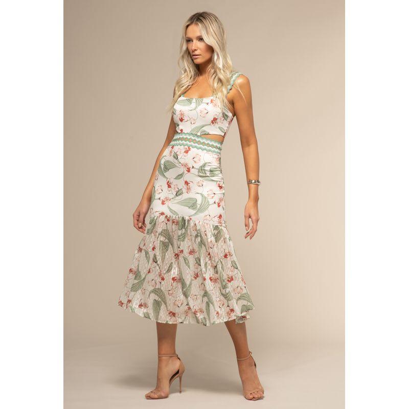 Vestido Midi Estampa Orquídeas Vintage 88212088--1846_1