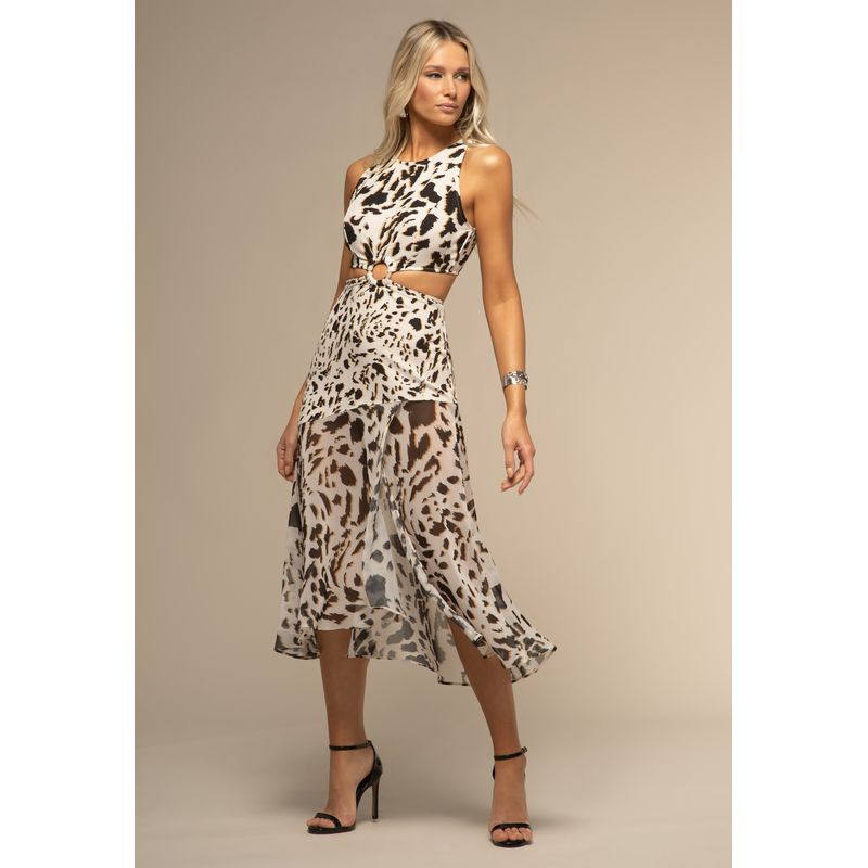 Vestido Detalhe Fivela Estampa Guepardo Aquarela 88212013--1826_1