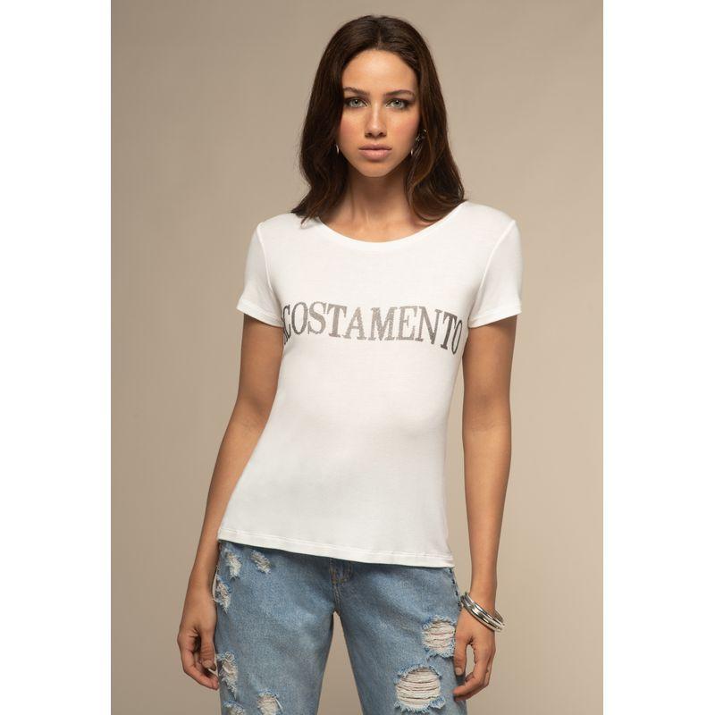 T-Shirt Lettering Detalhe Aplicação 88202026