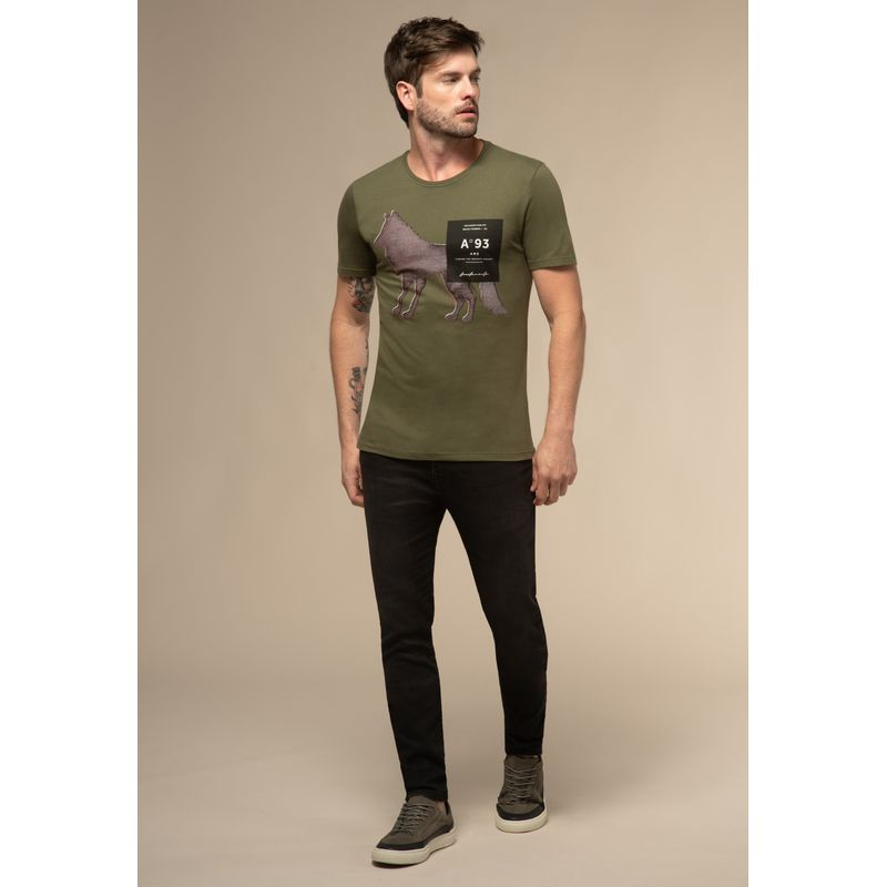 Camiseta-Acostamento-Casual-Wolf-Verde-Oliva-P