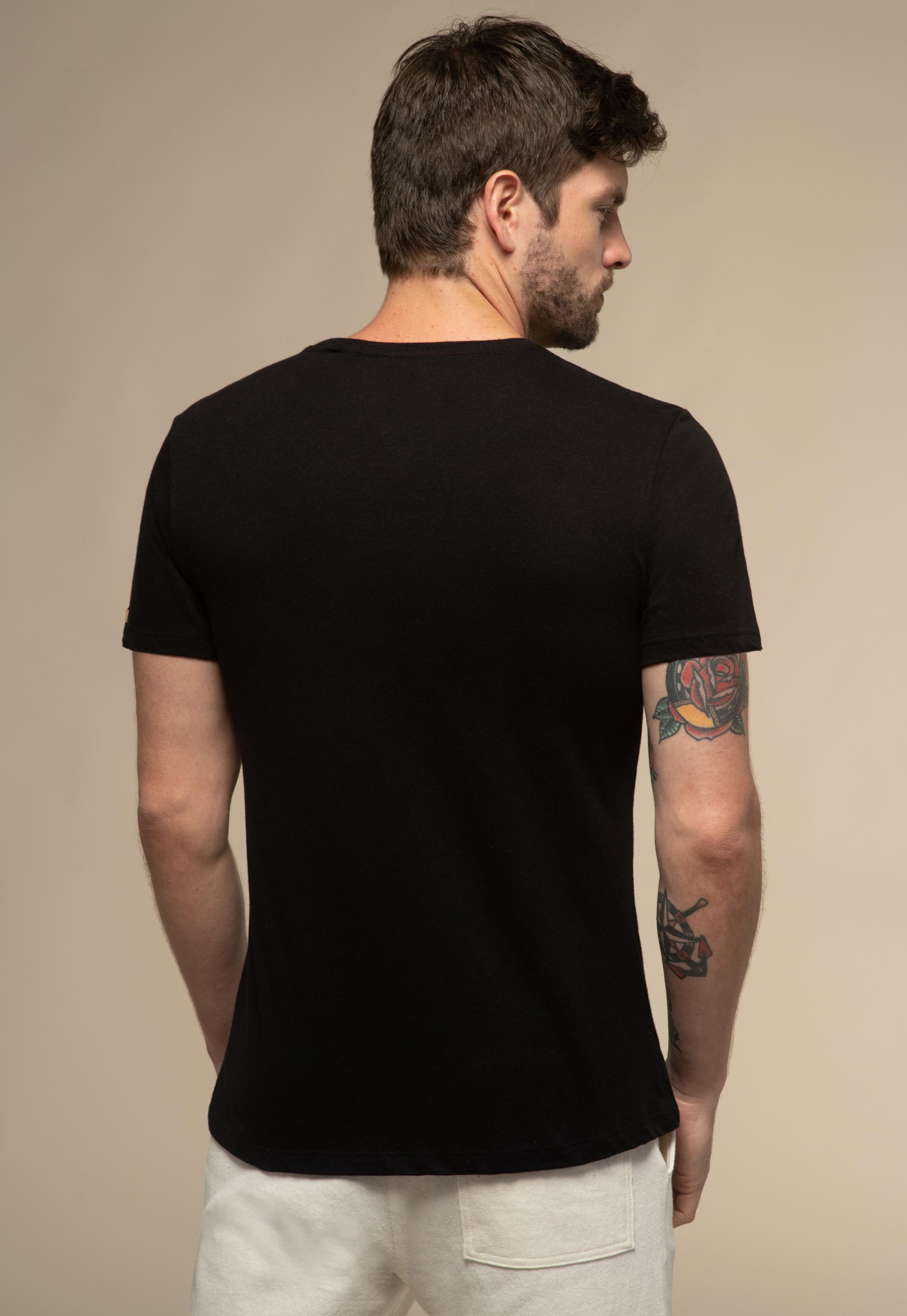 Camiseta Acostamento React Preta Malha Recotton