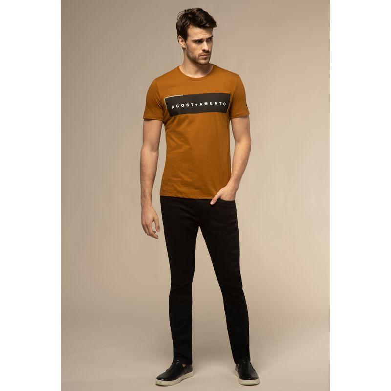 Camiseta-Acostamento-Casual-Lettering-Marrom-Saara-P-88102038-1457-1