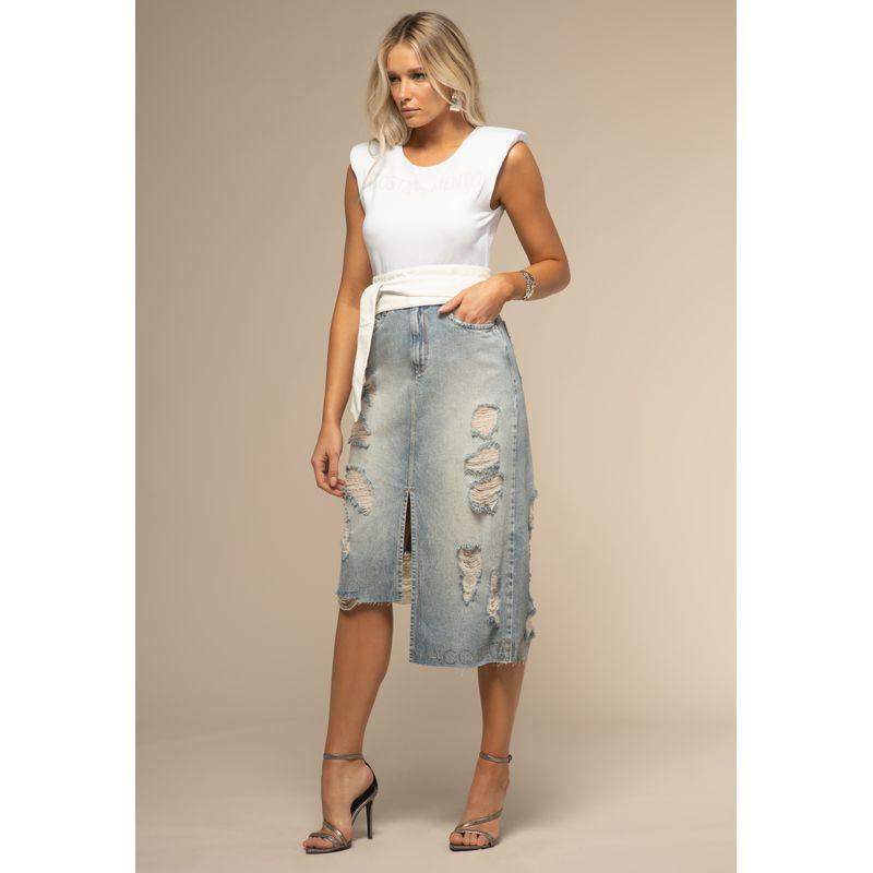 Saia Midi Jeans Detalhes Destroyed 88227003--905_1