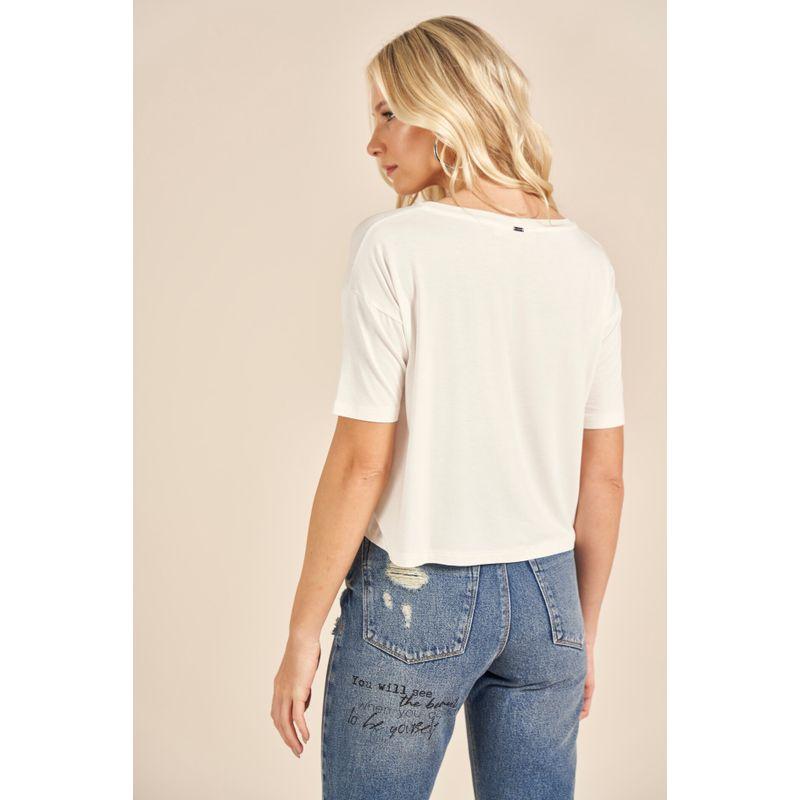 T-Shirt Blanc Lettering Metalizado 88202041_2
