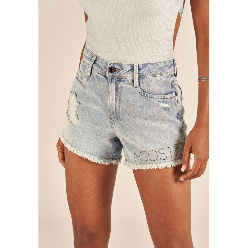 Short Jeans Destroyed Detalhe Aplicação 88224005-2