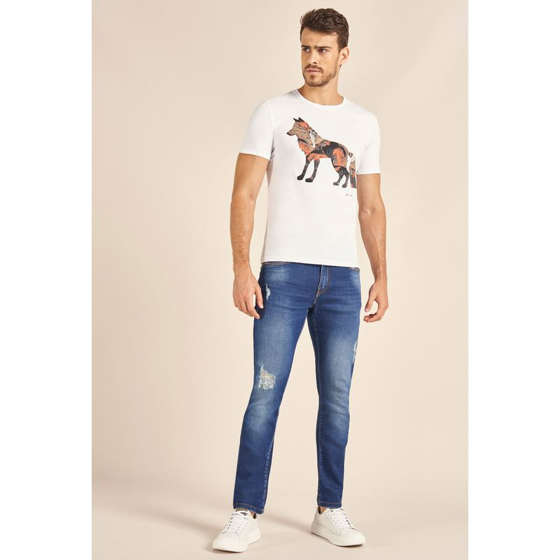 Camiseta-Acostamento-Casual-Wolf-Off-White