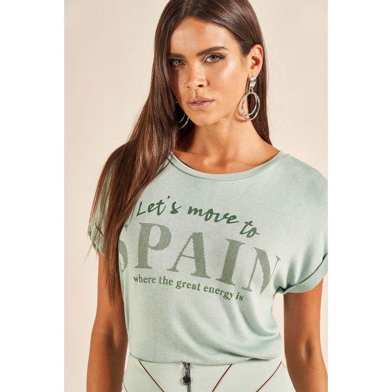 T-Shirt Spain Lettering Brilho 89202035-2