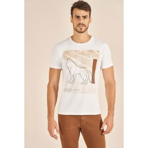 Camiseta-Acostamento-Casual-Wolf-Branco