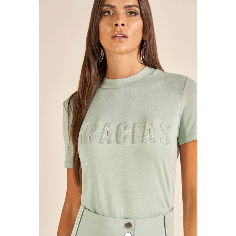 T-Shirt Gracias Lettering Brilho 89202043-2