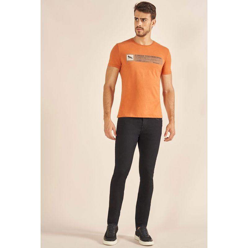 Camiseta-Acostamento-Casual-Estampada-Laranja-Cordoba