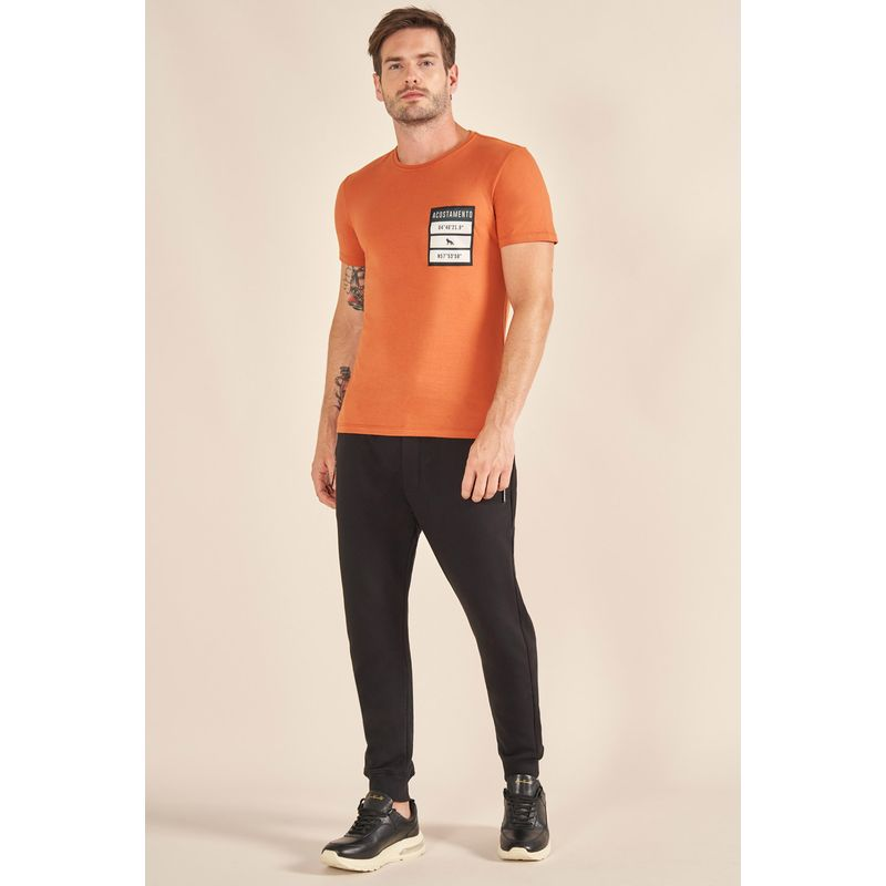 Camiseta-Acostamento-Casual-Estampada-em-Midia-Laranja-Cordoba