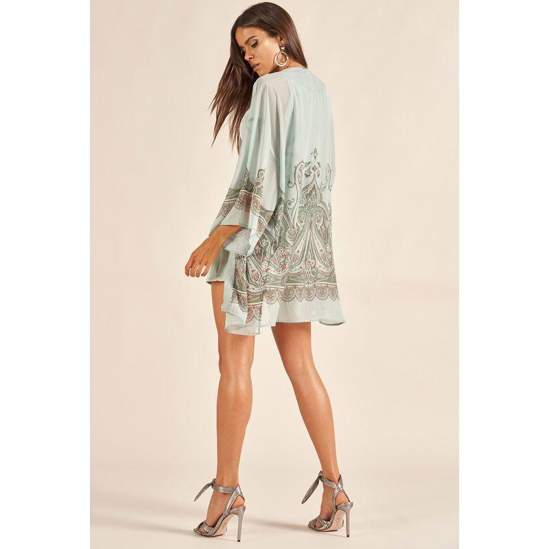 Kimono Plisse Shine Estampa Arabescos Andaluzia 89209000-3