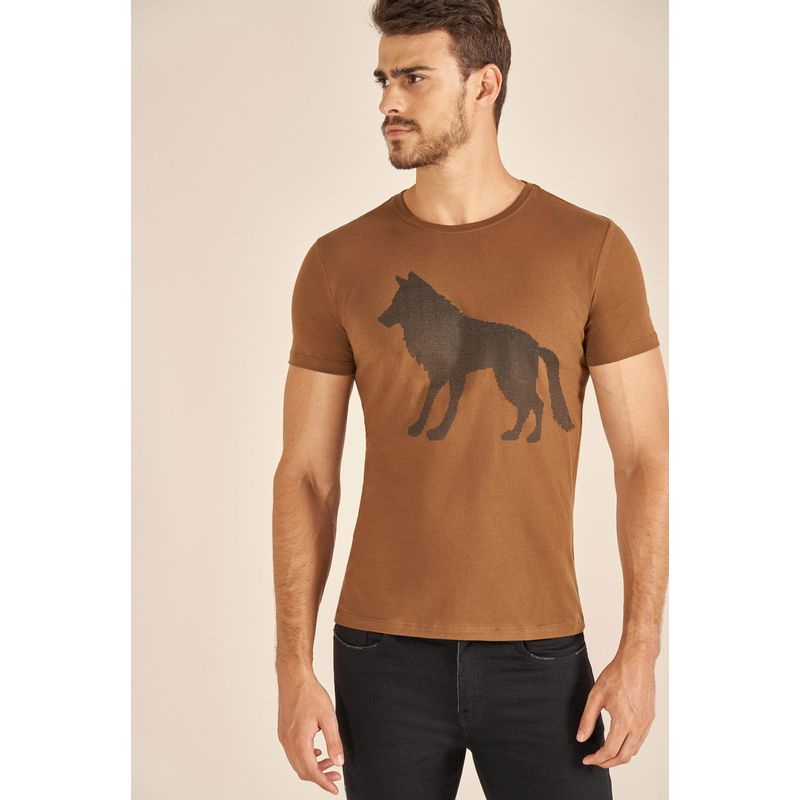 Camiseta-Acostamento-Casual-Wolf