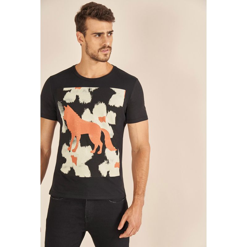 Camiseta-Acostamento-Casual-Floral-