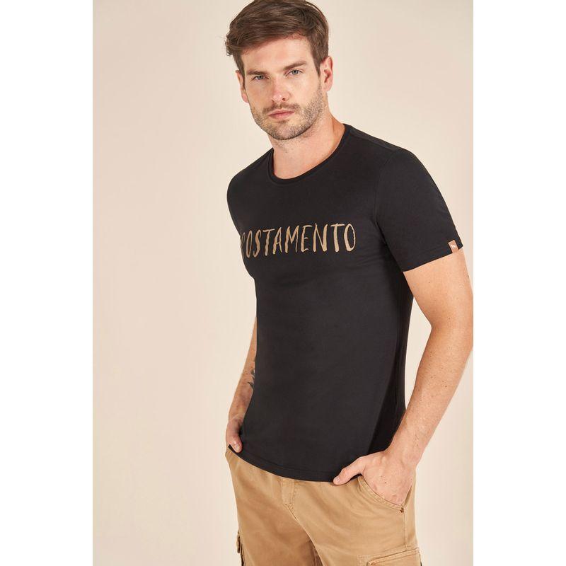 Camiseta-Acostamento-Casual-Lettering-