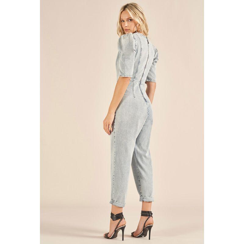 Macacão Jeans Mangas Bufantes Cindy 89219302-4
