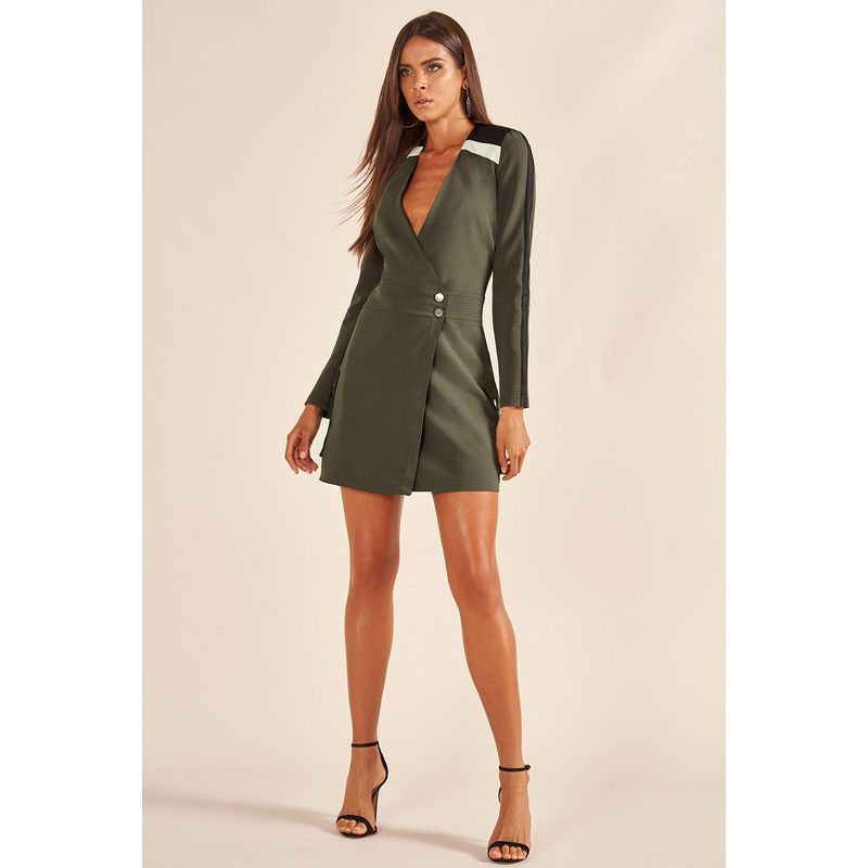 Vestido Alfaiataria Militar Detalhe Recorte 89212018