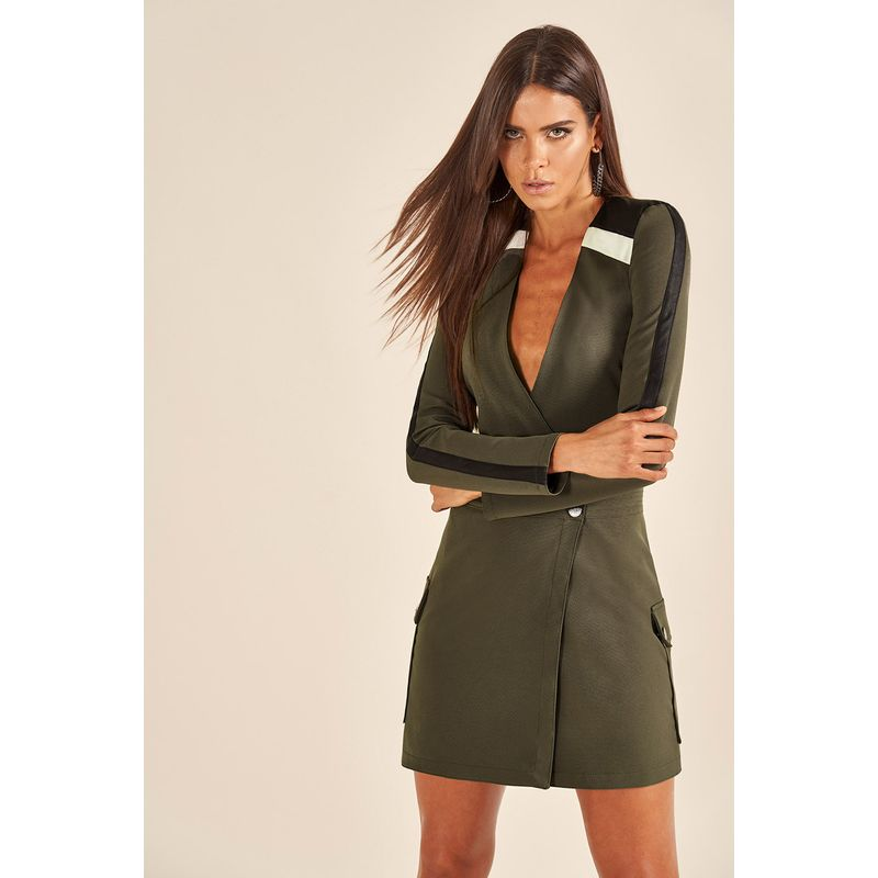 Vestido Alfaiataria Militar Detalhe Recorte 89212018-1