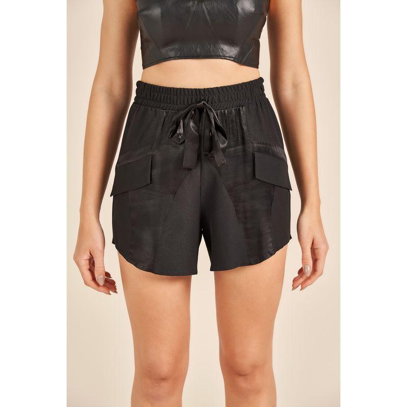 Short Feminino Fashion Preto Acostamento 90217032-4