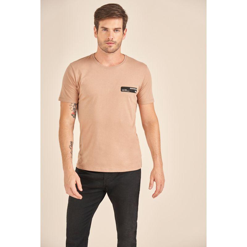 Camiseta-Acostamento-Casual-Rosa-Estampa-Wolf-Travel