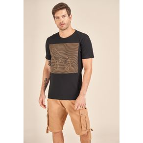 Camiseta-Acostamento-Casual-Preta-Estampa-Alto-Relevo