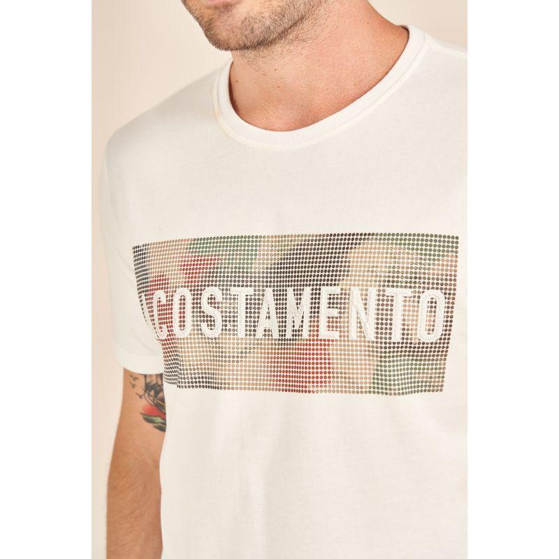 Camiseta-Acostamento-Casual-Off-White-Estampa-Alto-Relevo