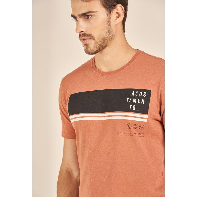 Camiseta-Acostamento-React-Terracota-Malha-Ecologica