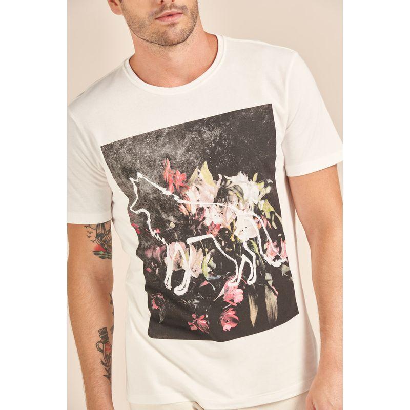Camiseta-Acostamento-Casual-Off-White-Estampada