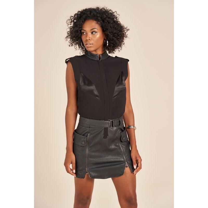 Vestido Curto Eco Skin Utilitário Preto Acostamento 90212039-3