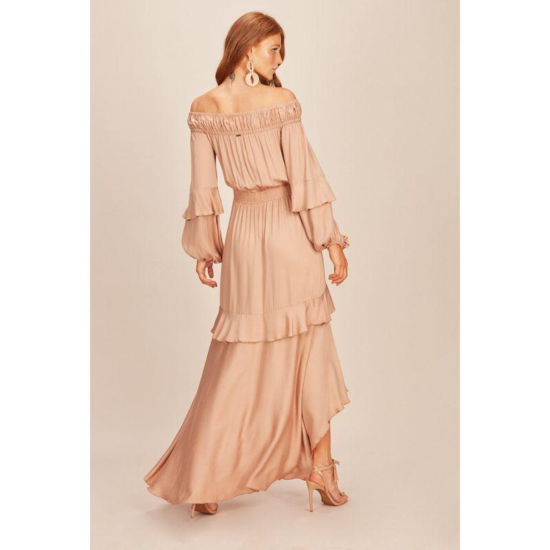 Vestido Longo Ombro a Ombro Nude Acostamento 90212034-3