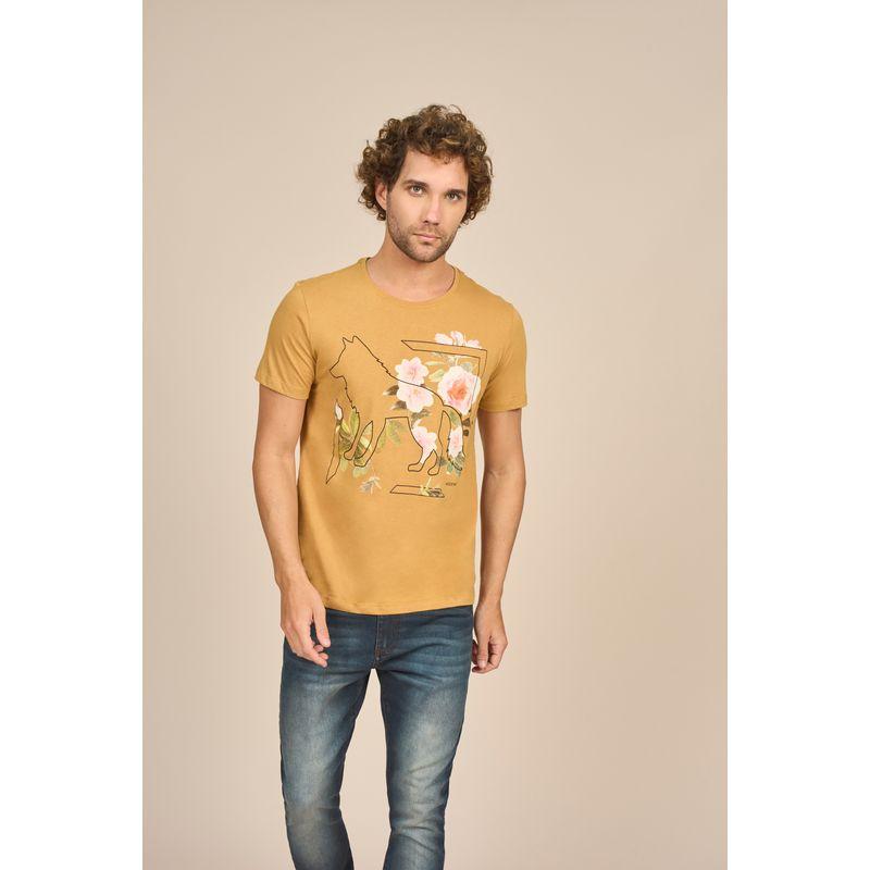 Camiseta Masculina Casual Estampa em Quadricromia Acostamento 88102015--5-