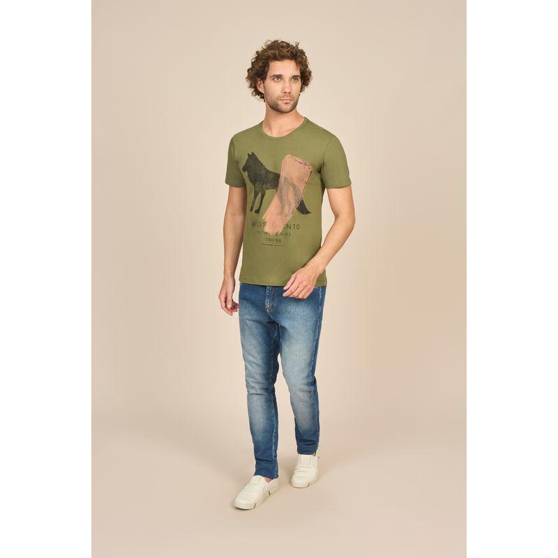 Camiseta Masculina Casual Estampa Lobo Acostamento 88102027--2-