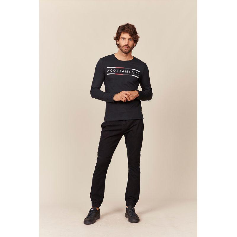 Camiseta-Masculina-Lettering-Listras-Manga-Longa-Acostamento