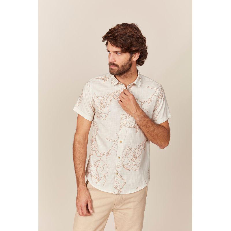 Camisa Masculina Manga Curta Estampa Rubias Off Acostamento 89101012--2-