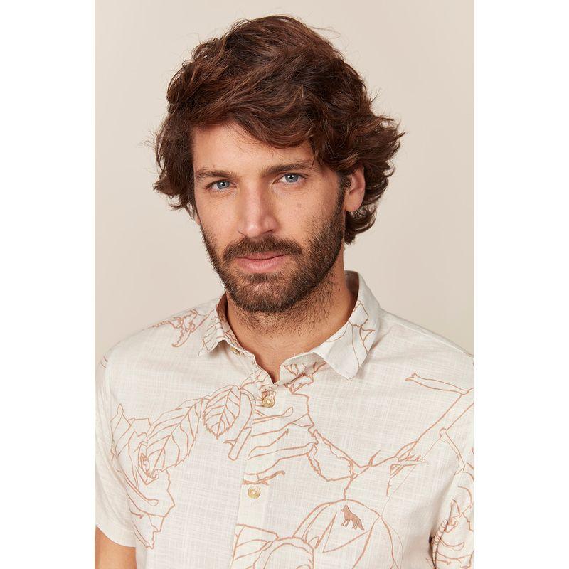 Camisa Masculina Manga Curta Estampa Rubias Off Acostamento 89101012--3-