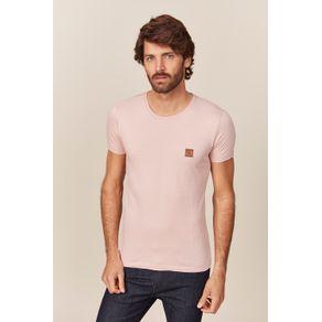 Camiseta-Acostamento-Casual-Marrom-Wolf-Minimalista