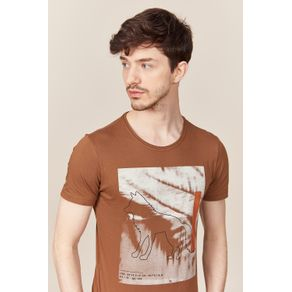 Camiseta-Acostamento-Casual-Lobo